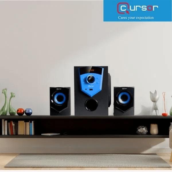 Cursor 2.1 Bluetooth Multimedia Speaker E210 USB FM Radio Remote