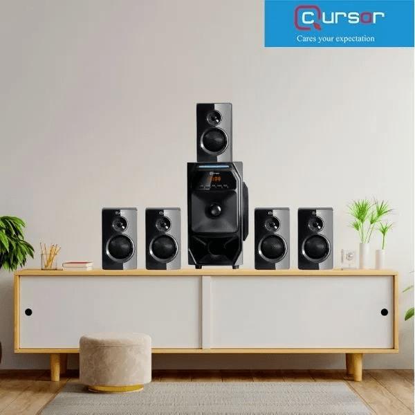 Cursor 5.1 Multimedia Speaker H5888 USB / FM Radio / Karaoke Function
